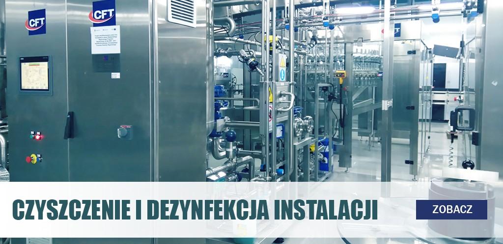 Czyszczenie i dezynfekcja instalacji